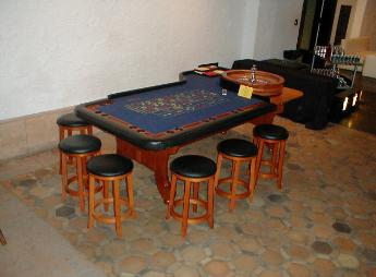 Casino Party Nights Florida, Inc. roulette table with stools