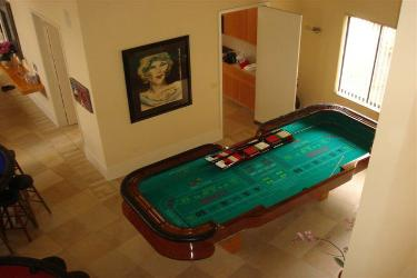 Casino Party Nights Florida, Inc. craps table, house party, Kendall, Florida