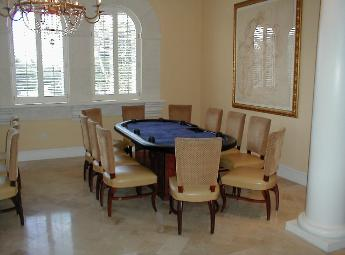 Casino Party Nights Florida, Inc. poker table, poker tournament at Addison, West Palm Beach, Florida